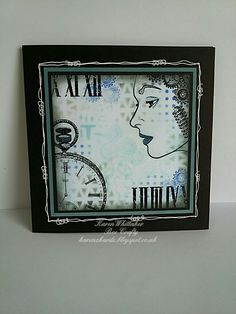 Ladies Profile and Time collection from Bee Crafty  #beecraftystamps #dtsample #ladiesprofile #time #pocketwatchstamp #distressoxides #stamps #stamping #card