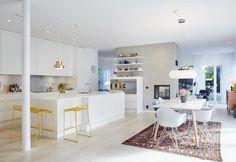 Härligt kök med öppen planlösning. #kök #nybygge #byggahus #fiskarhedenvillan…