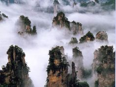 Zhangjiajie National Forest Park, Weather in Zhangjiajie, China In China, Sky People, Zhangjiajie, New Fantasy, Forest Park, Scenery Wallpaper, National Forest, Natural Wonders, The Great Outdoors