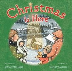 Beautiful nativity book: Christmas is Here by Lauren Castillo - Book Review & Transfer Printing Craft