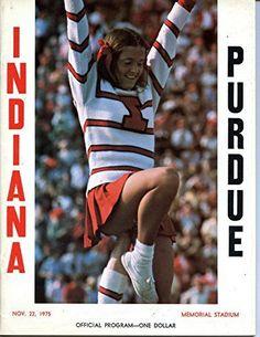Indiana Hoosiers vs Purdue Boilmakers College Football Program- 11/22/1975