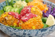 9 Healthy Vegan-Friendly Dinners - The Tasty K Delicious Vegan Recipes, Vegetarian Recipes, Tasty, Lunches And Dinners, Meals, Vegan Dinners, Sweet Potato Rice, Clean Eating, Healthy Eating