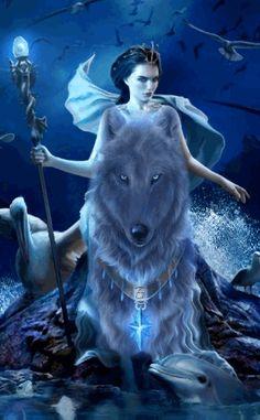 Grande-Fée sur un loup