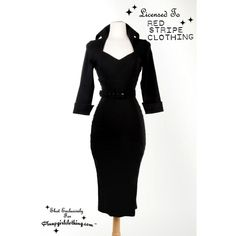 This is not your basic black dress!  With its roots firmly planted in Old Hollywood glamour, the Lorelei dress is an incredibly flattering and sophisticated wiggle dress made in soft bengaline fabric that loves your curves.