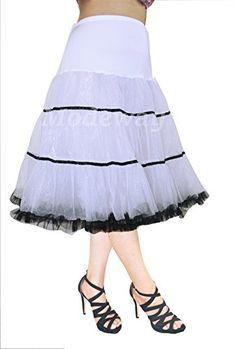 "Fashion Bug Women 26""Rockabilly Vintage Tulle Petticoat,50s Puffy Underskirt Slips www.fashionbug.us #plussize #fashionbug #vintage #rockabilly #pinup"