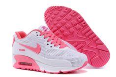 Discount Nike Air Max 90 KPU TPU Rose Chaussures De Sport Blanc