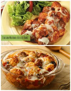 Just four convenient ingredients bake into hearty family-size comfort food! Italian Meatball and Biscuit Bake uses Pillsbury Grands to create an easy no-hassle dinner the whole family will love.