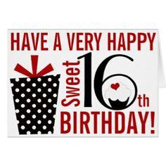 Happy sweet 16 birthday birthday messages pinterest sweet 16 choose your favourite happy sweet 16 design from our wonderful selection of custom greeting cards or create your own today using our intuitive design tool m4hsunfo