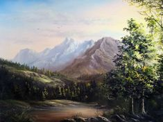"""""""Spring Mountain Range"""" by Kevin Hill  Check out my channel on YouTube: KevinOilPainting  Check out my website: www.paintwithkevin.com"""