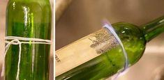 Hogyan lehet elvágni egy üveget különleges eszközök nélkül? Mióta ezt tudom, nem dobom ki az üvegeket! - Finom ételek, olcsó receptek Pickles, Cucumber, Decorate Bottles, Decorated Bottles, Alcohol, Pickle, Zucchini, Pickling