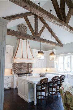 Like the backsplash and the beams.