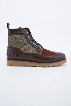 HELLA dope!! Fred Perry Northgate Brogue Boots in Tweed