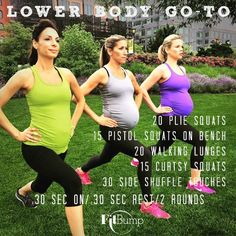 A Lower-Body Leg Workout – for pregnant moms- FitBump