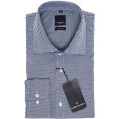 """Daniel Hechter"" Blue Gingham Slim Fit Shirt - TK Maxx"