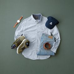 Shirt:Jachs NY //Denim:Jachs NY //Hat:Wolf & Man //Sneakers:Bullboxer //Watch:Fossil //Belt:Anson Belt //Socks:St. Croix Sneakers For Sale, Casual Sneakers, Sneakers Fashion, Flatlay Fashion, Mens Fashion 2018, Men's Fashion, Sneaker Dress Shoes, Outfit Grid, Sneaker Brands