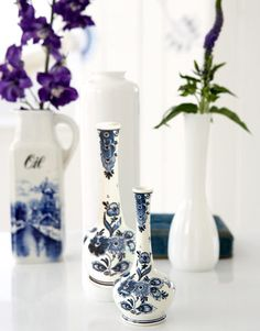 How to create replica delftware vases with decal paper. #crafts