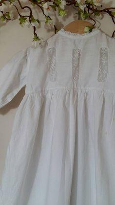 Antique lightweight cotton long Christening by LilysVintageLinens