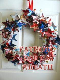 Small Fry & Co. : Patriotic Pop Can Wreath