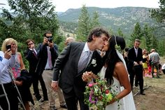 Jenny Uehisa wore our Stone Fox Bride dipped Ryan Roche bias-cut dress and Le Paolo Peu air plant veil. www.stonefoxbride.com