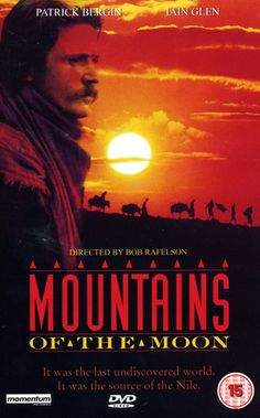 MOUNTAINS OF THE MOON - Patrick Bergen - Iain Glenn - Directed by Bob Rafelson - DVD cover art.