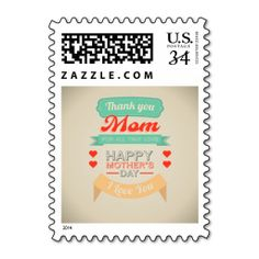 Happy Mother's day typography design Postage Stamps
