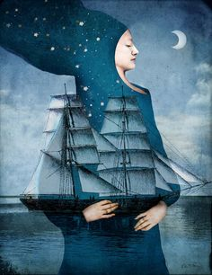 darksilenceinsuburbia:    Catrin Welz-Stein. Blue Moon, 2012.