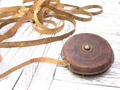 Antique Vintage  Leather Tape Measure Tape Ruler 10 m Soviet Old Tape Measure Made in USSR by CoolVintageForHome on Etsy https://www.etsy.com/listing/243212487/antique-vintage-leather-tape-measure