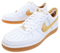 sale retailer 5058c 80e2c Nike Air Force 1 Downtown PRM - White - Gold - Gum - SneakerNews.com