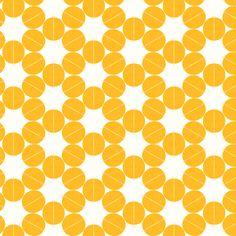 Lemon Circles fabric by stoflab on Spoonflower - custom fabric