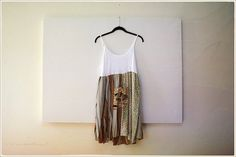 upcycled spring to summer tank dress  funky post by novelatelier