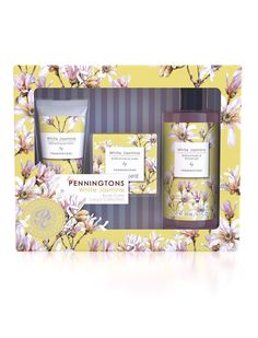 NEW: Penningtons Body Care Collection Our new Penningtons gift sets are not just delightfully designed, the beauty is reflected in the formulations. This gorgeous gift set contains a luxury bath & shower gel, body lotion and soap and is available in three fantastically floral fragrances: Orange Blossom, White Jasmine and Wild Rose. Available for £10 on our UK website.