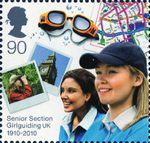 Girlguiding UK Stamp Senior Section Girl Guides, Penny Black, Royal Mail, Stamp Collecting, Countries Of The World, Boy Scouts, Great Britain, Postage Stamps, British