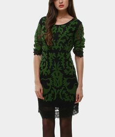 Take a look at this Olive & Black Abama Dress by Almatrichi on #zulily today! $55 !!