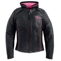 Women's Pink Label 3-in-1 Leather Jacket | MotorClothes® Merchandise | Harley-Davidson USA