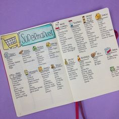 23 Amazing Food-Related Bullet Journal Pages Here's a good reference list to keep. Set up a list for recipes to try. Here's a great way to list everything for the week.