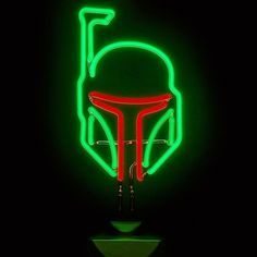 Neon Sign Boba Fett - #Light #StarWars