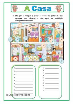 House Riddles - Medium worksheet - Free ESL printable worksheets made by teachers Italian Lessons, Portuguese Lessons, Learn Portuguese, Spanish Lessons, Spanish Classroom, Teaching Spanish, Spanish Help, Cognates, Reading Comprehension Worksheets