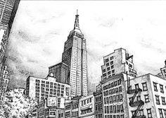 New York City Sketch 2 by sketchmodern on Etsy