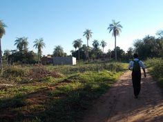 Missionary work in Capiata region near Asuncion, Paraguay..long walks to meet and teach.