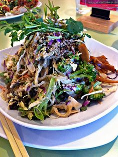 Asian Noodle Raw Salad from Beets