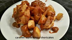 red or green?: Caramel Apple Spiced Shortcakes  forget strawberries...when fall arrives it is time for shortcake topped with skillet roasted apples and caramel sauce  #fallfest #foodnetwork #apples #caramel