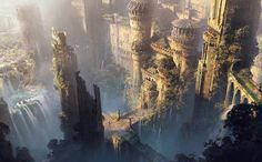 Concept Art World ( Fantasy City, Fantasy Castle, Fantasy Places, Fantasy World, Concept Art World, Fantasy Concept Art, Fantasy Setting, Fantasy Illustration, Fantasy Inspiration