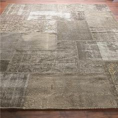 Reclaimed Vintage Oushak rugs- Patchwork Over-Dyed Rug: 6 Colors