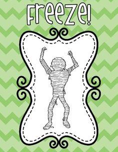 Three new poses added! Free until 6 PM 10/29/13! MONSTER MASH FREEZE DANCE - TeachersPayTeachers.com