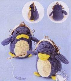 monedero crochet animales - Buscar con Google Crochet Wallet, Crochet Coin Purse, Crochet Purses, Crochet Crafts, Crochet Toys, Free Crochet, Diy Crafts, Purses And Bags, Coin Purses
