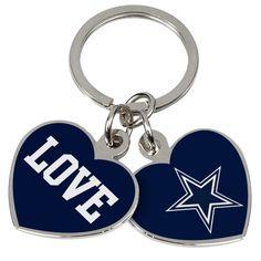 Dallas Cowboys Love Keychain - Navy Blue