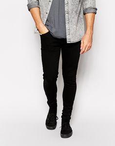Criminal Damage Super Skinny Jeans in Black