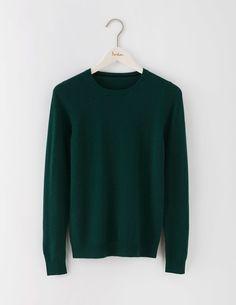 $150 / 100% Cashmere / Cashmere Crew Neck Sweater in Emerald Night / Semi fitted…