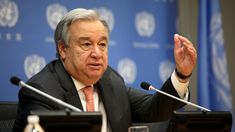 U.N. Head Antonio Guterres Hoped For Peace In 2017. But, He Says, 'The World Has Gone In Reverse' : Goats and Soda : NPR