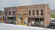 Walthers Merchant's Row IV - Kit - 10-5/8 x 5 x 4'' -- HO Scale Model Railroad Building -- #4040